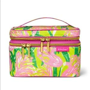 NWT Lilly Pulitzer for Target Fan Dance Train Case